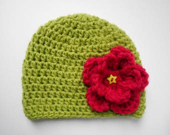 handmade baby girl woolen Hat