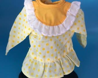 Ssc Lemon Meringue rag doll dress
