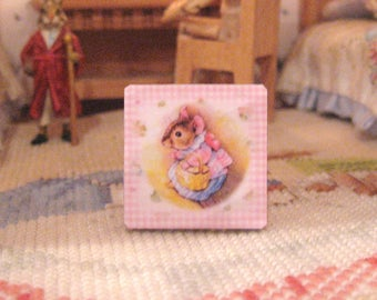 dollhouse beatrix potter picture wooden sign 12th scale miniature