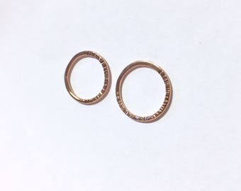 Rose gold studs Oscar