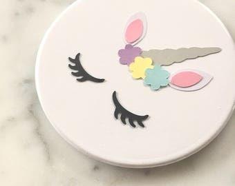 Unicorn Mirror - Unicorn Party Decorations - Unicorn Party Favors - 50 Pocket Mirrors