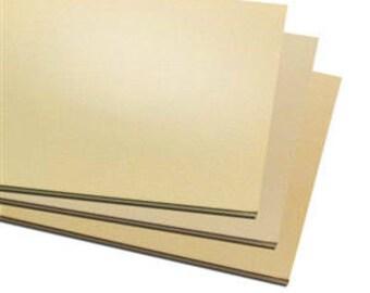"""2 Pack 3""""x3"""" Jewelers Brass Sheet Metal,  Blanks, Stamping, Choice of Gauge, Supplies, Findings, Metal Work"""