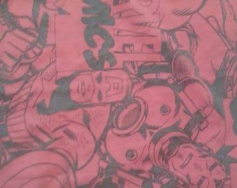 Marvel comics fabric piece