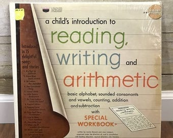 NOW 20% OFF Vtg Vinyl Record Album, A Child's Introduction To Reading, Writing and Arithmetic, 1967, Lp 87, Golden Records, Preschool, Grade