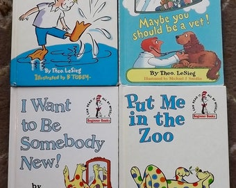 4 books Put Me in the Zoo, I Want to Be Somebody New, I Wish that I Had Duck Feet