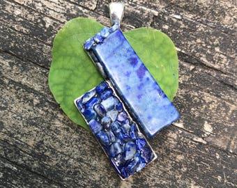 Blue Lapis Lazuli royalty stone handmade metaphysical pendant gypsy hippie pagan bohemian boho new age stone jewelry by Sapphire Moonbeam