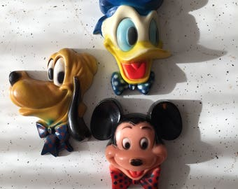 Mickey Mouse, Pluto, Donald Duck Characters Wall Plaques