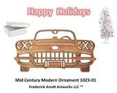 1023-1 Mid Century Modern Christmas Ornament
