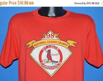 ON SALE 80s St. Louis Cardinals 1987 World Series t-shirt Large