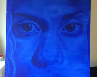 Portrait in Ultramarine Blue