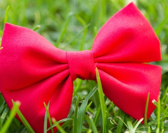 Candy Apple Red Bow & Bow Tie