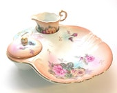 Gorgeous R S Germany Creamer and Sugar bow hand painted