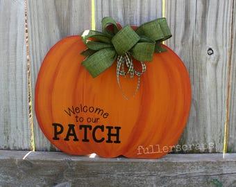 orange pumpkin sign