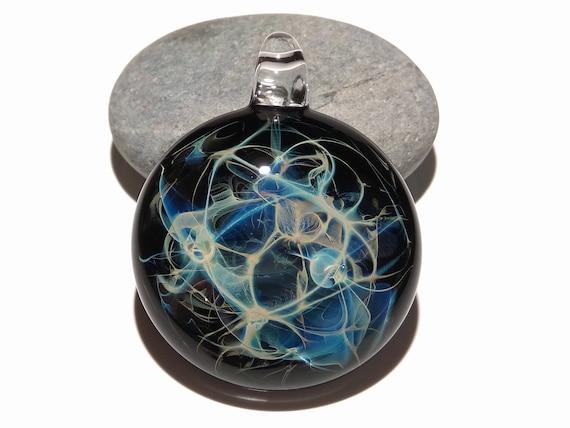 Heady Universe - Boro - Blown Glass Pendant - Lampwork - Glass Jewelry - Free Shipping - Heady Glass - Ready to ship!!