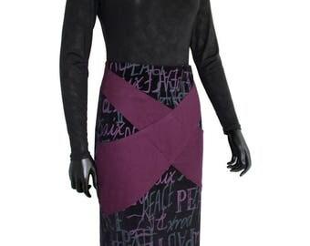 Purple velvet skirt from Chilia Tama