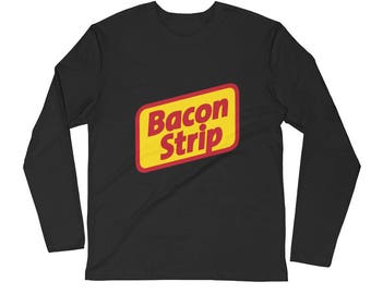 Bacon Strip Seattle Long Sleeve Fitted Crew