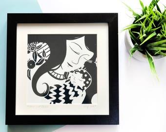 Mother & Child - Framed Art Print
