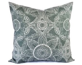 Two Grey Pillow Covers - Grey Throw Pillow - Custom Pillows - Grey Pillow Sham - Euro Sham - Lumbar Pillow - 18 x 18 Pillow Cover 20 x 20