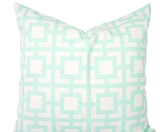 15 off sale 2 mint pillow covers mint and white throw pillows mint
