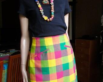 Vintage Kenzo skirt.Multi-coloured,100% wool Kenzo skirt.