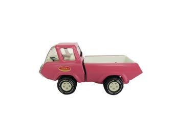 Vintage Tonka Pink Truck Buggy Car Steel Metal Toy Decor