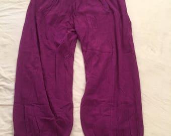80s balloon capri pants