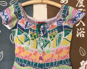 Vintage Kenzo Paris colorful sweater