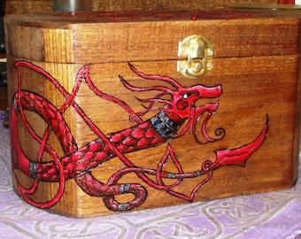 Celtic Dragon Herb/Crystal Chest