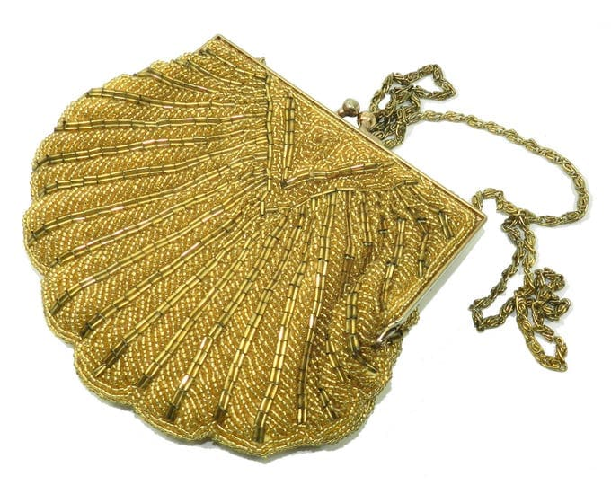 Vintage Walborg Gold Formal evening bag, walborg wedding accessory bag, formal wear, ladies evening purse, prom ball new years eve