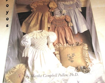 BOOK, SILK RIBBON, Treasures, Smocking, Embroidery, Sewing Instructions, Patterns, Collars, Heirloom Styles, Martha Pullen, Vintage Book