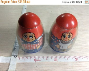 20 percent off 3 day sale Vintage Weebles Raggedy Ann And Andy Dolls Toys 1970s Used