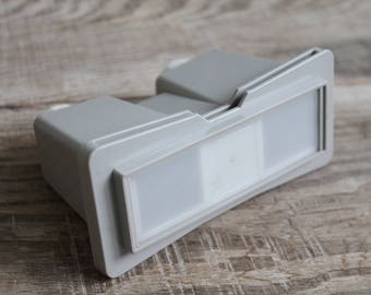 vintage stereoscope / Soviet stereoscope / portable slide viewer / slide projector