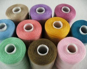 Sewing thread, 10 rolls per 1000 YRD (519)