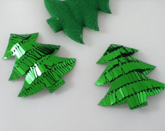 Tree with sequins, green, 5 piece (1157)