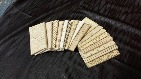 17 Fat Eighth (1/8) Neutrals from Kim Diehl Fabrics