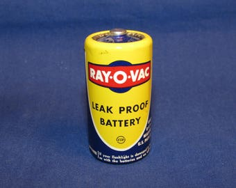 Vintage RAY-O-VAC Leak Proof Battery C Cell