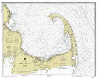 Cape Cod Bay - 1978 Nautical Map - 80000 AC Reprint - Chart 1208-13246