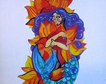 Sunflower Mermaid