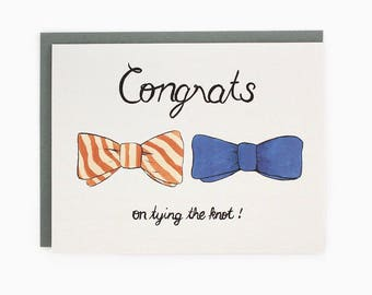 Congratulations on tying the knot - bowties - mr. and mr. - gay wedding / WED-BOWTIES