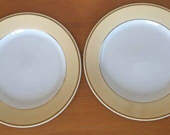 Homer Laughlin Dinner Plates - Set of 2