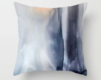 Iceland Throw Pillow-Decorative Throw Pillow - Home Decor- Abstract- Gray Pillows - Sofa Pillows - Abstracts Bedding