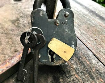 Vintage Lock and Key Set