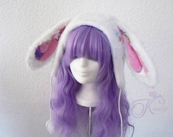 Snow bunny hat (babypink)