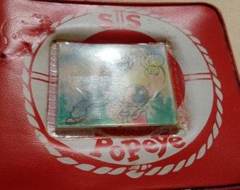Popeye the Sailor Man. Vinyl/plastic wallet.
