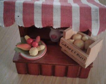 Vtg 80's Reutter Porzellan Miniature Fruit Stand