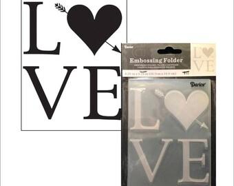 Wedding Embossing folder Love by Darice Valentine's - Cuttlebug Big Shot & Universal machine compatible card making and scrapbooking
