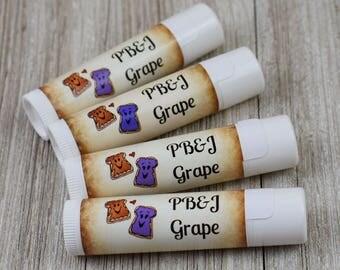 Peanut Butter & Grape Jelly Flavored Lip Balm - Handmade All Natural Lip Balm