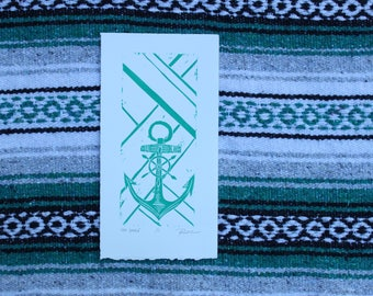 Sea Green Anchor Small Edition Print