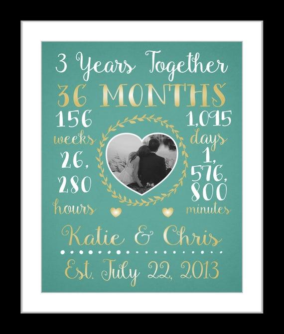 3 Year Wedding Anniversary Custom Wedding Anniversary