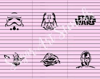 Star Wars stencils set of 6 designs Sl97